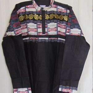 New Long sleeve Ankara Men' Shirt-sz 42